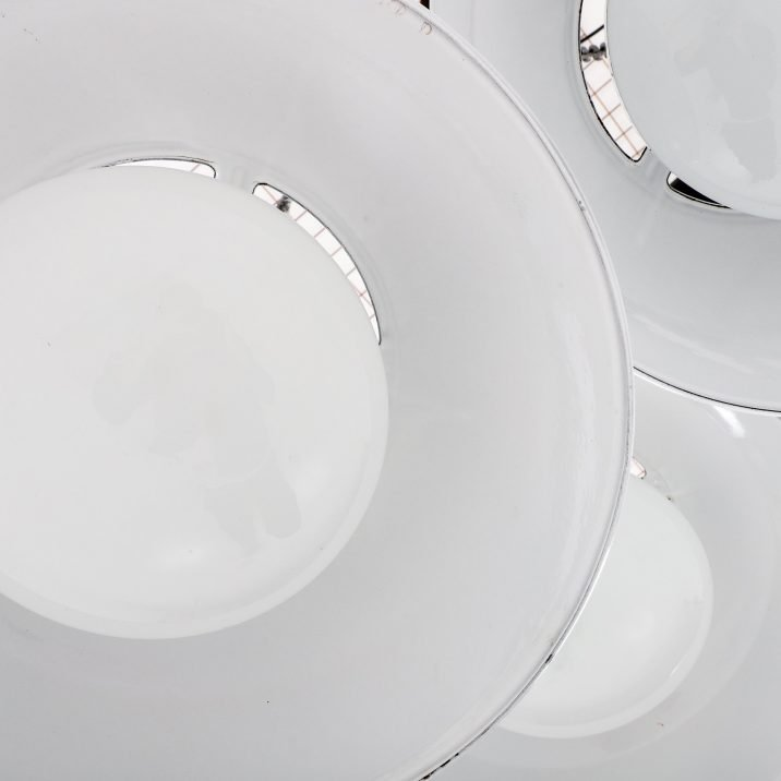 Xl Industrial White Diffused Lights By Benjamin - Cooling & Cooling