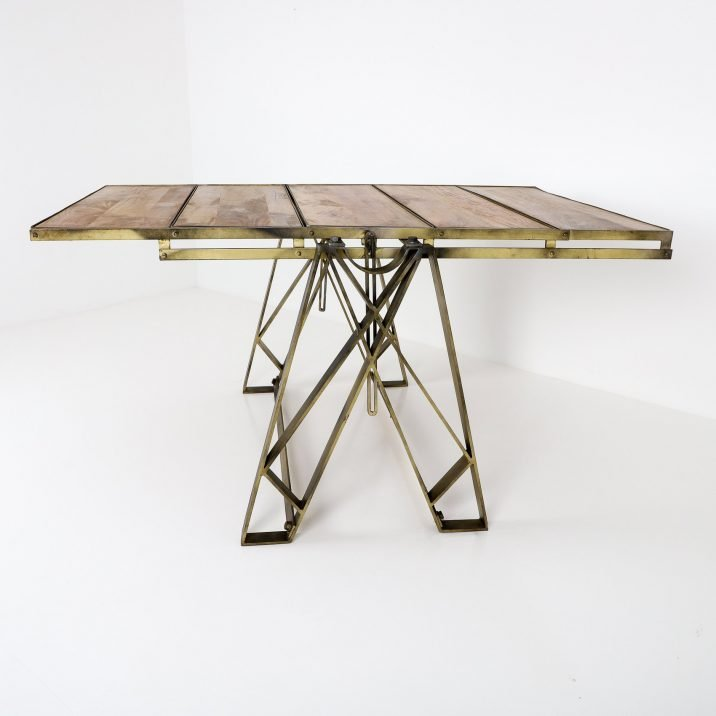 VINTAGE INDUSTRIAL FOLDING SHELF TABLE - COOLING & COOLING