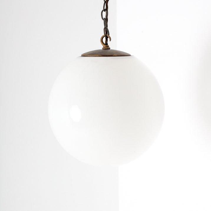 antique opaline globe pendant light