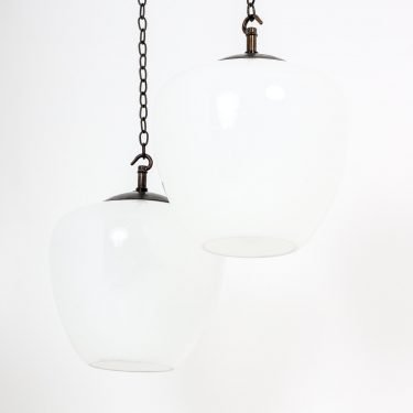 DIMINUTIVE TEARDROP OPALINE PENDANT LIGHT - COOLING & COOLING