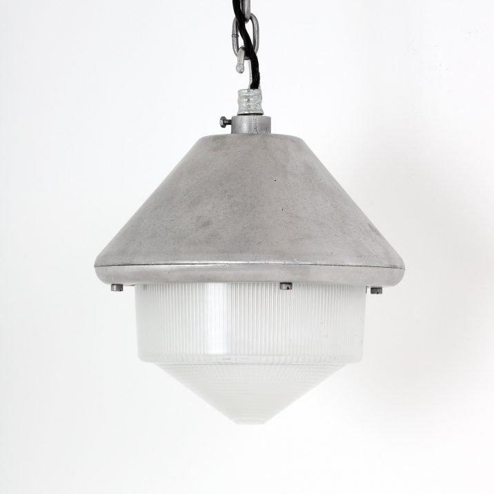 Industrial Mod Holophane Pendant Light - Cooling & Cooling