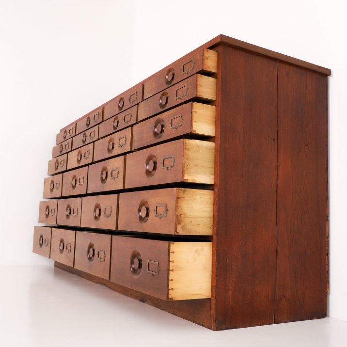 Large Antique Apothecary Bank Of Drawers - Cooling & Cooling