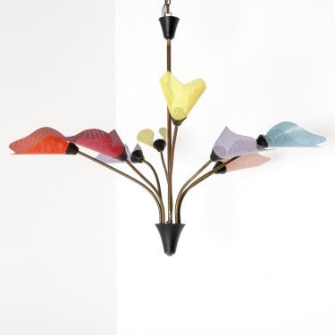 Vintage 1950's French Multicolour Chandelier - Cooling & Cooling