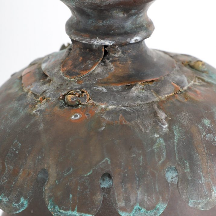 LARGE ENGLISH VICTORIAN COPPER LANTERN - COOLING & COOLING