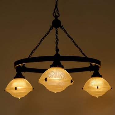 EXTRA LARGE HOLOPHANE CHURCH CHANDELIER - COOLING & COOLING