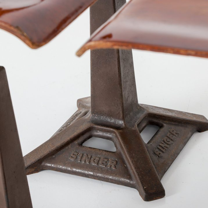 Set Of 4 Original Singer Factory Chairs - Cooling & Cooling