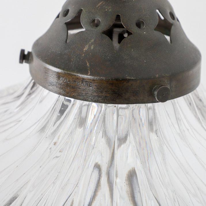 LARGE HOLOPHANE BLONDEL STILETTO CRYSTAL BOWL PENDANT - COOLING & COOLING