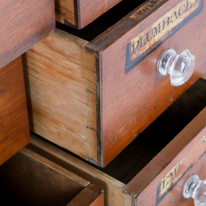 ANTIQUE APOTHECARY DRAWERS - COOLING & COOLING