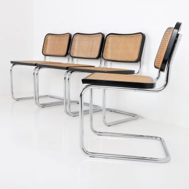 Vintage Set Of Four Cesca Chairs By Marcel Breuer 8 - Cooling & Cooling