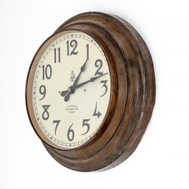 Antique Aged Copper 16 International Time Recording Co Ltd Clock - Cooling & Cooling