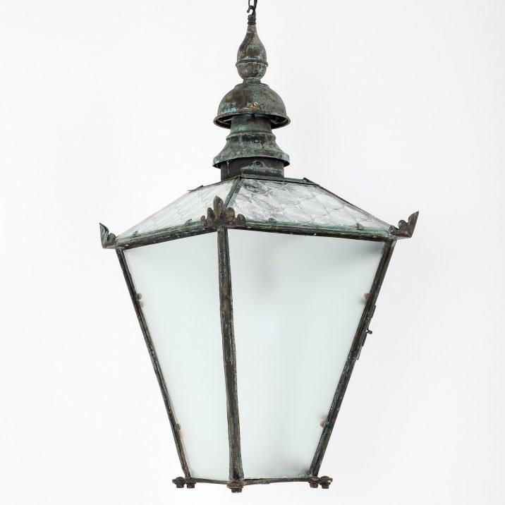 LARGE ANTIQUE COPPER LANTERN BY FOSTER PULLEN 6