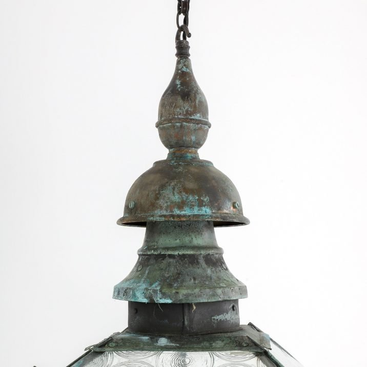 Large Antique Copper Lantern By Foster & Pullen - Cooling & Cooling