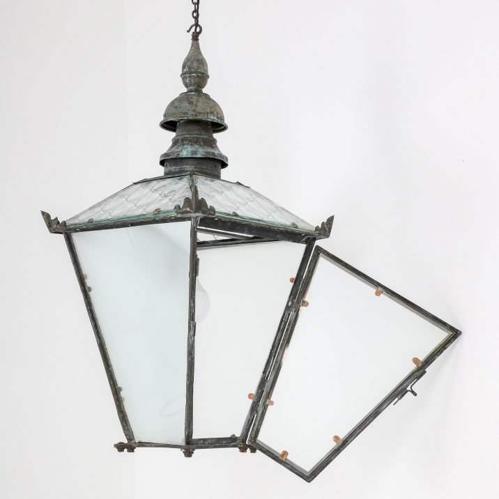 LARGE ANTIQUE COPPER LANTERN BY FOSTER PULLEN 9
