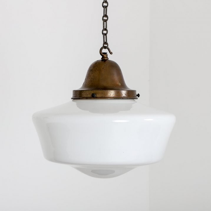 Antique Church Opaline Pendant Light - Cooling & Cooling