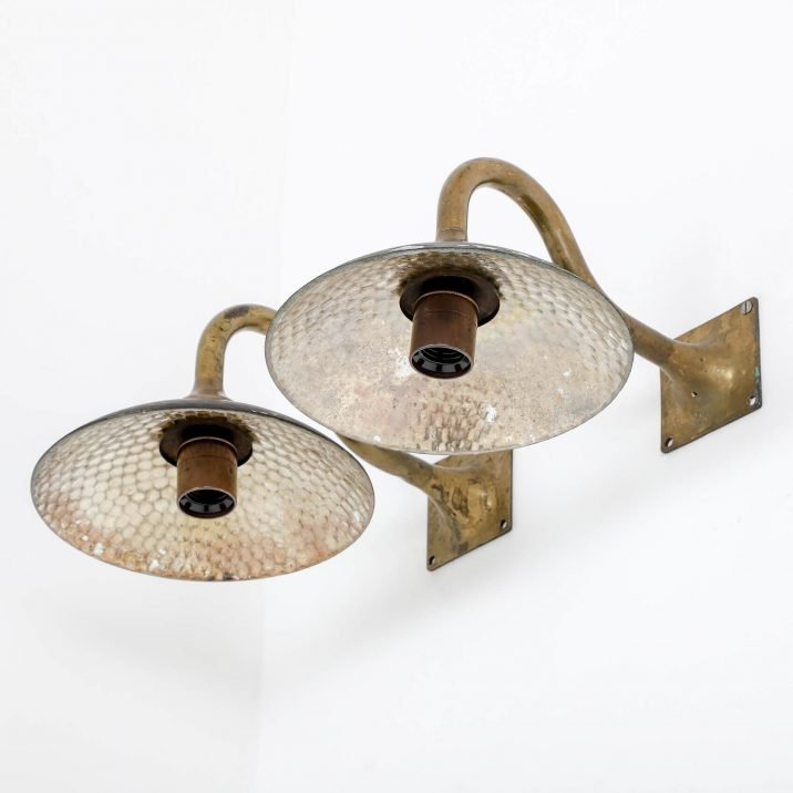 Antique Mirrored Wall Lights By Strand Of London - Cooling & Cooling