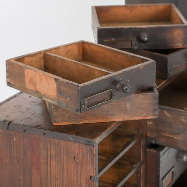 Antique Set Of 39 Apprentice Drawers - Cooling & Cooling