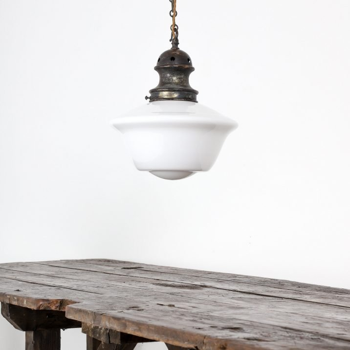 Edwardian Opaline Pendant Light - Cooling & Cooling