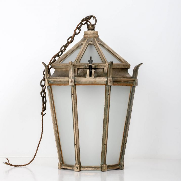 Large Antique Cast Bronze Lantern By G.E.C. - Cooling & Cooling