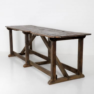 Large antique mill table