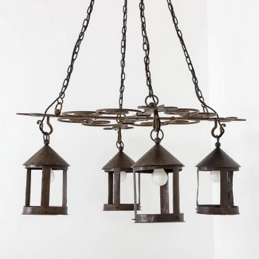 antique Arts & Crafts chandelier
