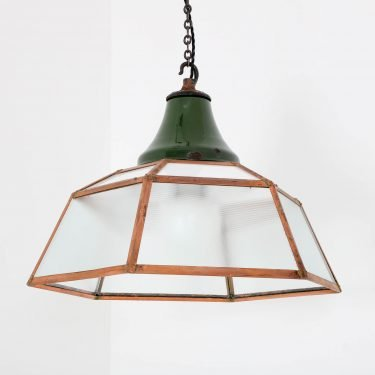 Rare Industrial Copper Lantern By Benjamin - Cooling & Cooling