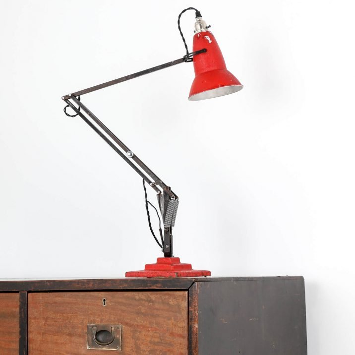 Red 3 Step Herbert Terry Anglepoise Lamp - Cooling & Cooling