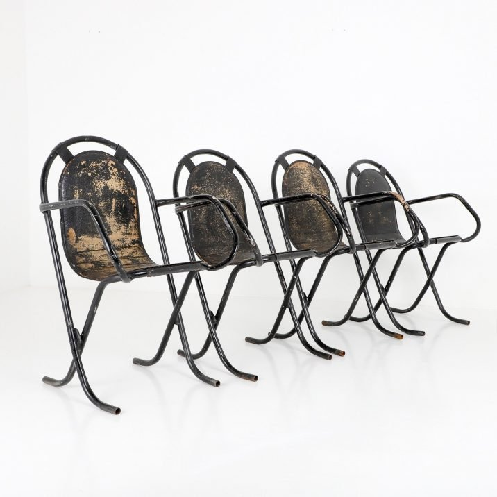 SET OF 4 STAK A BYE CHAIRS 2