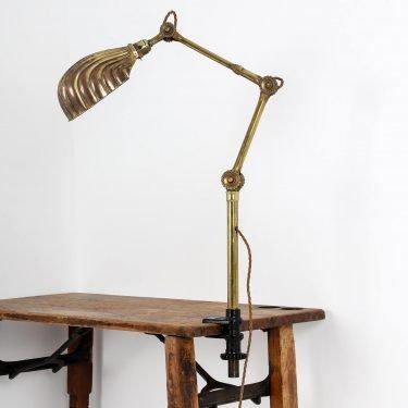 ANTIQUE BRASS DUGDILLS TASK LAMP 5 Cooling & Cooling