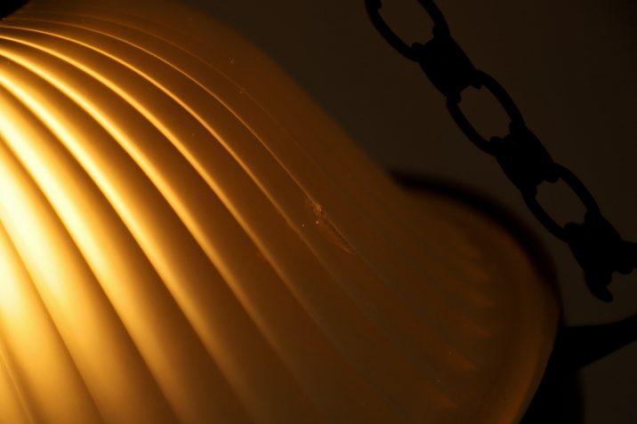 Elegant Holophane Chandelier - Cooling & Cooling