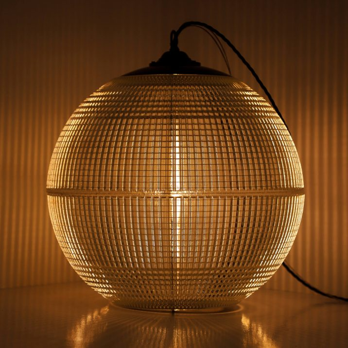 FRENCH 50CM HOLOPHANE GLOBE PENDANT LIGHT 1 Cooling & Cooling