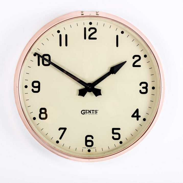 LARGE COPPER GENTS WALL CLOCK 1 Cooling & Cooling