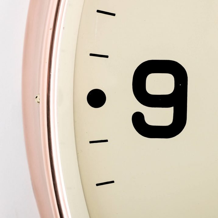 LARGE COPPER GENTS WALL CLOCK 4 Cooling & Cooling