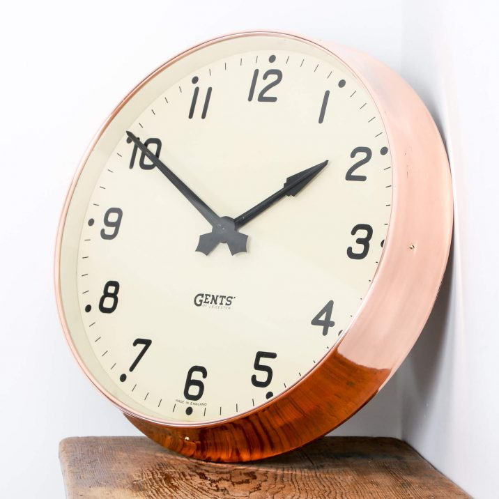 LARGE COPPER GENTS WALL CLOCK 9 Cooling & Cooling
