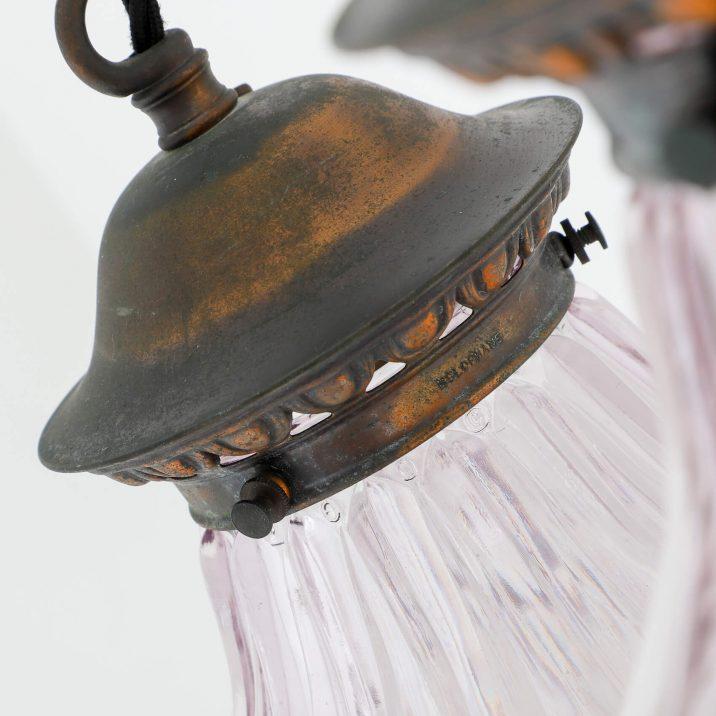 Large Antique Flambeau Pendant Light - Cooling & Cooling