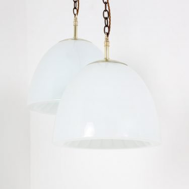 Decorative Czech opaline pendant light