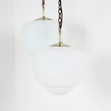 Elegant teardrop opaline pendant light