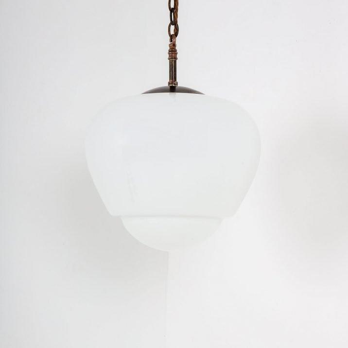 teardrop opaline pendant light