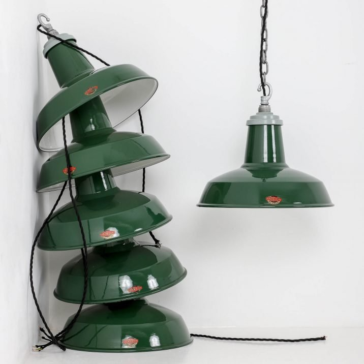 INDUSTRIAL 14″ GREEN PENDANT LIGHTS BY THORLUX 1 Cooling & Cooling