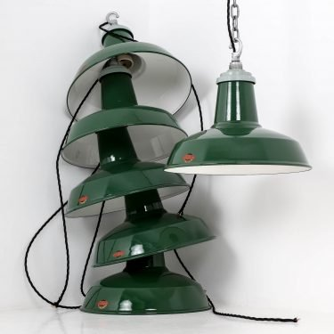 Industrial British pendant light