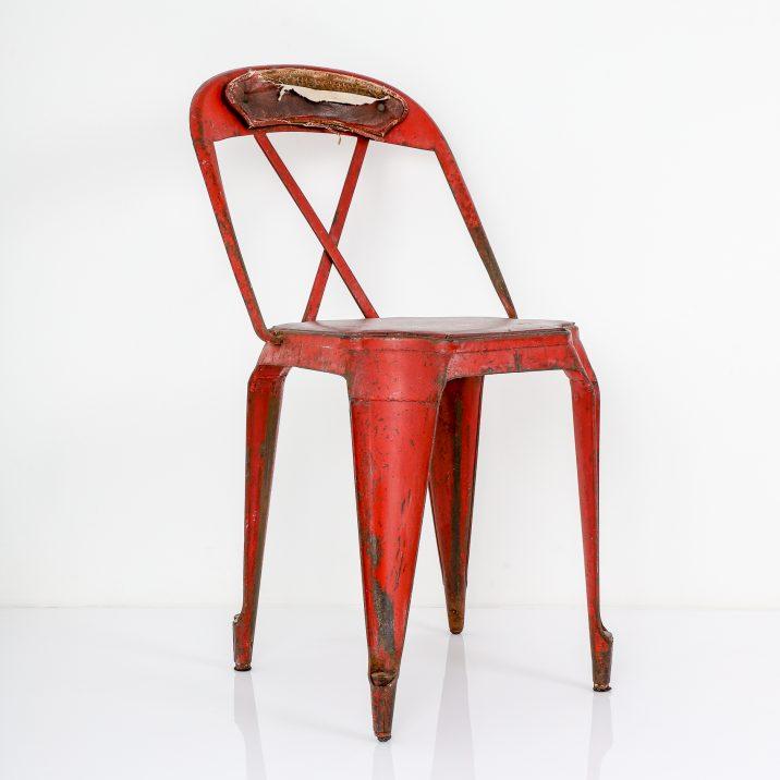 antique metal seat
