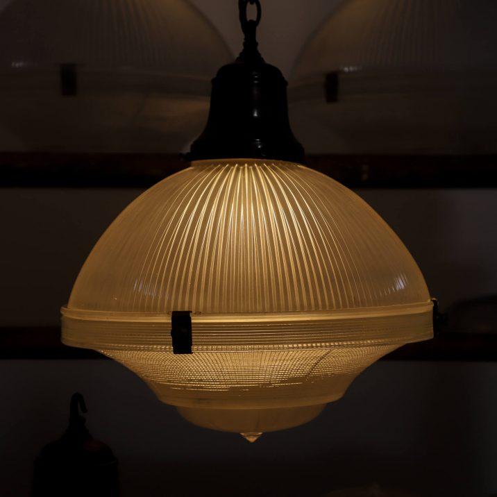 antique holophane pendant light