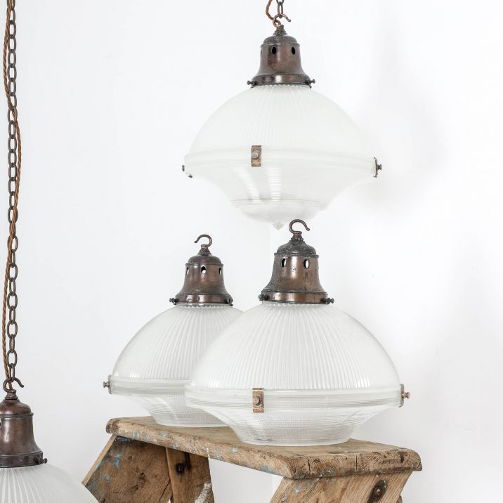 classic holophane pendant light