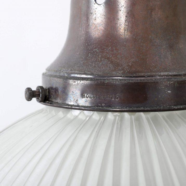 complete vintage holophane pendant light