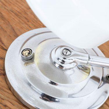 chrome industrial art deco desk lamp