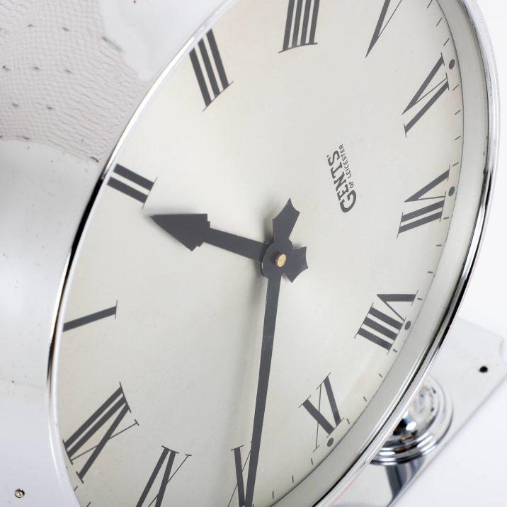 gents chrome station clock