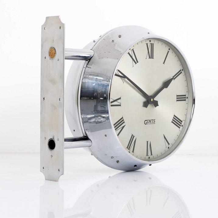 antique chrome station clock