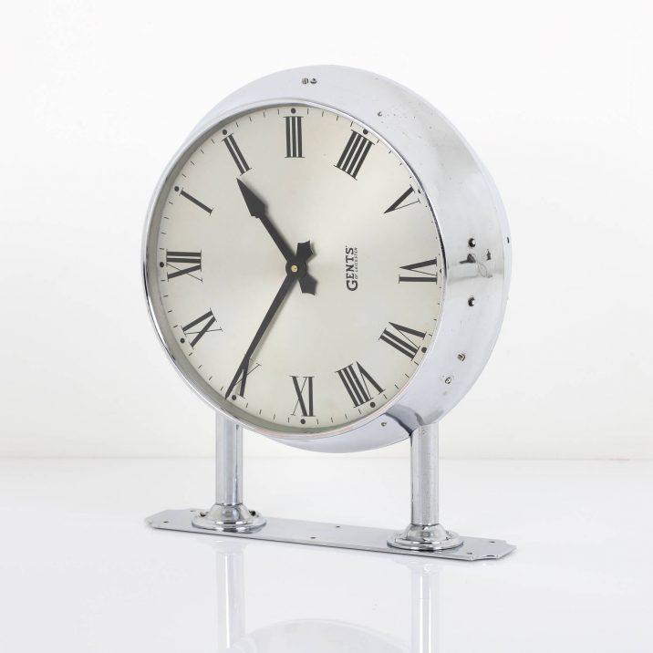 gents chrome wall clock