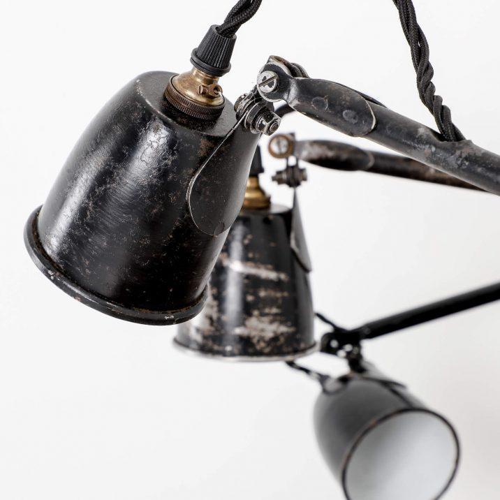 antique factory lamp