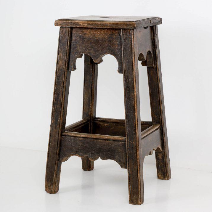 vintage gothic stool