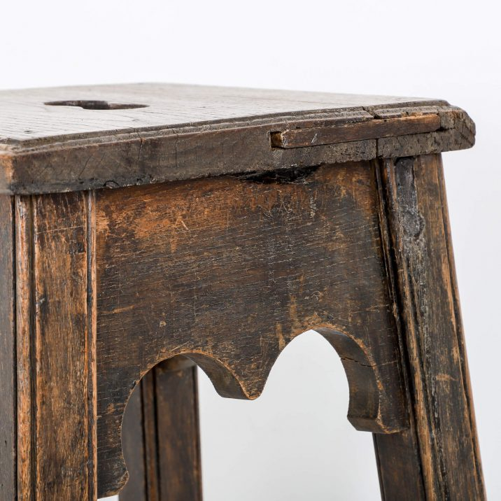 wooden gothic stool